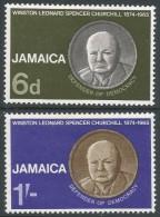 Jamaica. 1966 Churchill Commemoration. MH Complete Set. SG 252-3 - Jamaica (1962-...)
