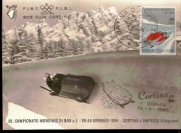 Cartolina Campionato Mondiale Di Bob A 2 29 - 30 Gennaio 1966 Perfette Condizioni - Bellissima - Inverno