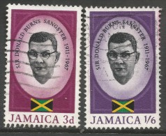 Jamaica. 1967 Sangster Memorial Issue. Used Complete Set. SG 262-3 - Jamaica (1962-...)