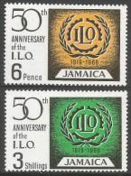 Jamaica. 1969 50th Anniv Of International Labour Organisation (ILO). MH Complete Set. SG 275-6 - Jamaica (1962-...)