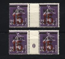 Memel,48,ZW + Ms 0,postfrisch - Memelgebiet