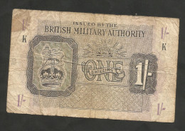 United Kingdom - BRITISH MILITARY AUTHORITY - 1 SHILLINGS (1943) - WWII - Emissioni Militari