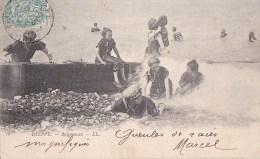 76 DIEPPE  Bord De MER  FEMMES  Baigneuses  Costume De BAINS  Et  BONNET MODE 1900 - Dieppe