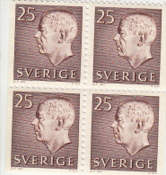 Zweden Michel 478A DL+DR+ELU+ERU Cat. 4.00€ ** - 1951-80