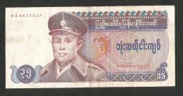 [NC] MYANMAR - BURMA - UNION Of BURMA BANK - 35 KYATS (1986) - Myanmar