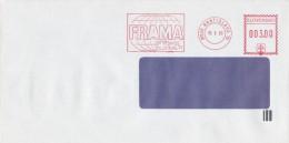 I6124 - Slovakia (1993) 810 05 Bratislava 15: The Test Machine FRAMA; Stamp In The Slovak National Emblem (!!!) - Varietà & Curiosità