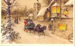 Kaartje Nieuwjaar - Nouvel An - Koets In De Sneeuw - Nouvel An