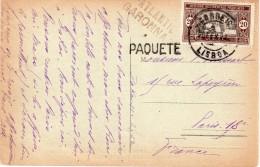 SÉNÉGAL : CARTE POSTALE DE DAKAR . 1922 . POUR PARIS . OBL MARITIME PAQUETE DU PORTUGAL . - Senegal (1887-1944)