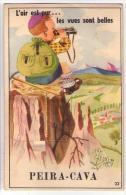 (06) 345, Lucéram Peira-Cava, Carte à Systeme CAP 32 Avec Son Dépliant - Lucéram