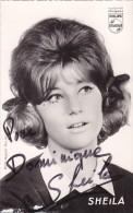 DEDICACE Originale Autographe Chanteuse SHEILA 1963 @ Photo Aubert - Autographes