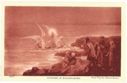 Peinture  Tableau  Virginie Demont Breton  Notre Dame De Boulogne Sur Mer  Anges Et Sainte Dans Une Barque  /16378 - Peintures & Tableaux