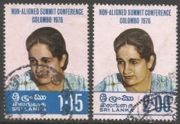Sri Lanka. 1976 Non-Aligned Summit Conference, Colombo. Used Complete Set SG 630-1 - Sri Lanka (Ceylon) (1948-...)