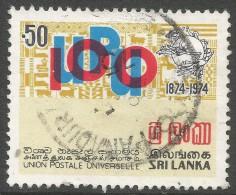 Sri Lanka. 1974 Centenary Of UPU. 50c Used SG 606 - Sri Lanka (Ceylon) (1948-...)