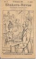 REVUE SHAKERS REVUE PUBLICATION A LILLE NO 5 DU 25 DECEMBRE 1892 TRESTATION DU SERMENT EN ANGLETERRE - Livres, BD, Revues
