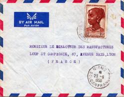 FRANCAISE AFRIQUE OCCIDENTALE 1858 - 20F Auf LP-Brief Von Soudan Nach Lyon - Frankreich (alte Kolonien Und Herrschaften)