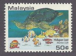 Malaysia 1994 Tourist Year - Tourism, Animals, Marine Life, Tortues, Turtles, Reef MNH - Maleisië (1964-...)