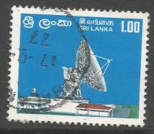 Sri Lanka. 1976 Opening Of Satellite Earth Station, Padukka. 1r Used. SG 617 - Sri Lanka (Ceylon) (1948-...)