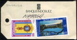 NOUVELLE CALÉDONIE - N° 514 + 516 + 528 / ETIQUETTE RECOMMANDÉE DE PAITA LE 30/4/1987, POUR NOUMÉA - TB - Nieuw-Caledonië