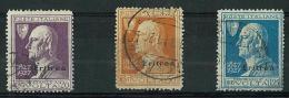 ERITREA - ANNO 1927 - VOLTA - FRANCOBOLLI DI REGNO SOPRASTAMPATI - 3 VALORI USATI - SASS. 120/122 - CANCELLED - Eritrea