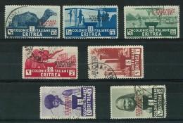 ERITREA - ANNO 1934 - ONORANZE AL DUCA DEGLI ABRUZZI - 7 VALORI USATI - SASS. 213/219 - CANCELLED - Eritrea
