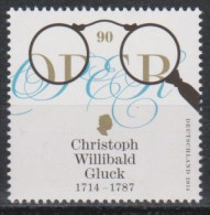 DV 2284) BRD MiNr 3092  **: Christoph Willibald Gluck , Komponist - Muziek