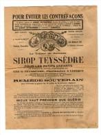 Document En 4 Pages SIROP TEYSSEDRE - Old Paper