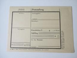 Postauftrag / Auftragspostanweisung Formular Ungebraucht Österreichische Staatsdruckerei 1967 - 1945-.... 2. Republik