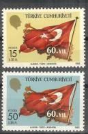 1983 TURKEY 60TH ANNIVERSARY OF THE REPUBLIC OF TURKEY MNH ** - Ongebruikt