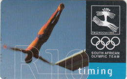 SOUTH AFRICA(chip) - South African Olympic Team/Timing, Telkom Telecard, Chip Siemens 30, Used - Afrique Du Sud