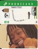 SOUTH AFRICA(chip) - Girl On Phone, Telkom Telecard, CN : TNAN, Chip Siemens 30, Used - Zuid-Afrika
