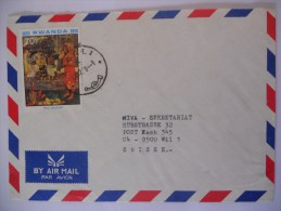 Rwanda Lettre De Kigali 1988 Pour Suisse - Rwanda
