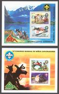 Nicaragua 1975 Mi# Bl.86-87** BOY SCOUT JAMBOREE, LILLEHAMMER - Nicaragua