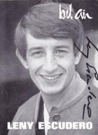DEDICACE Originale Autographe De 1962 Du Chanteur LENY ESCUDERO @ Disques Bel Air - Autographes