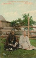 CANADA: Caughnawaga, Que. Iroquois Indians, Native American Couple, 1900's, 102,485 J.V. (Valentine) - Native Americans