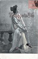 Fantaisie Portrait Jolie Fille Frau Lady Jeune Femme Au Sein Nu - Young Nude Woman Belle Epoque Alterocca Terni - Donne