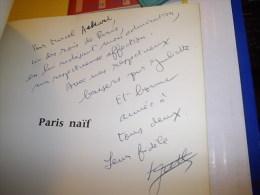 PARIS NAÏF 1962 PAUL GUTH ENVOI A MARCEL ACHARD / Dédicace - Livres, BD, Revues