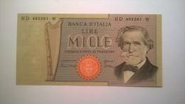 "1000 Lire MILLE LIRE : 1980 - FDS  ""Giuseppe Verdi"" - Numero : HD 495261 W - 1000 Lire"