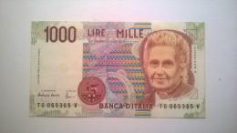 "1000 Lire MILLE LIRE : 1995 - SPL  ""Montessori"" - Serie : TG 065365 V - 1000 Lire"