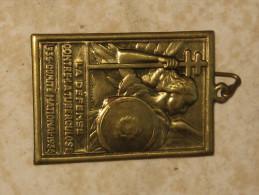 Médaille 1936 Centre National La Défense Contre La Tuberculose - Services Médicaux