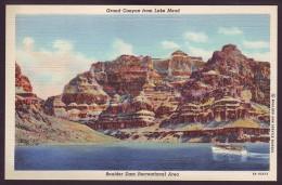 GRAND CANYON FROM LAKE MEAD. BOULDER DAM RECREATIONAL AREA. NEVADA (Old Linen Postcard) - Etats-Unis