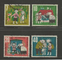 GERMANY 1961 Cancelled Stamp(s) Youth Fairy Tales Grimm 369-372 - [7] Federal Republic
