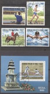 Congo 1988 Sport, Olympics, Set+perf.sheet, Used AF.002 - Congo - Brazzaville