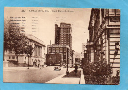 KANSAS CITY -M O-West Eleventh Street -rue Animée-a Voyagé En 1932 - Kansas City – Kansas