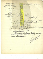 71 - Saône-et-loire - MARCIGNY - Facture VANOT - Nouvelles Galeries - Bazar - 1910 - REF 43 - France