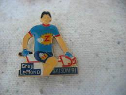 Pin´s Cyclisme, Vélo:  Greg LEMOND Saison 91 - Cycling
