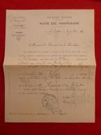 TALIZAT SAINT FLOUR MARIAGE FARJON & MERLE 1920 Voir Manuscrit Verso - Documents Historiques