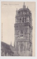 (RECTO / VERSO) RODEZ EN 1912 - N° 8 - CLOCHER DE LA CATHEDRALE - PLIS D' ANGLE EN HAUT A GAUCHE - Rodez