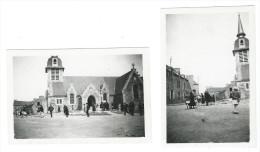 22 PLEDELIAC - PHOTO 1947 - L'EGLISE - SORTIE DE LA MESSE - BRETAGNE - Autres Communes