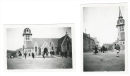 22 PLEDELIAC - PHOTO 1947 - L'EGLISE - SORTIE DE LA MESSE - BRETAGNE - France