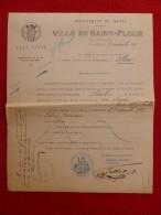 SAINT FLOUR MARIAGE PAULHAC & JUMARIN 1915 Voir Manuscrit Verso - Documents Historiques